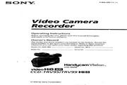 索尼 CCD-TRV99模拟摄像机 说明书