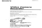 索尼 CCD-TRV33模拟摄像机 说明书