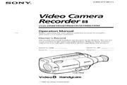 索尼 CCD-TR74模拟摄像机 说明书