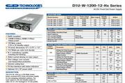 C&D西恩迪D1U-W-1200-12-HC2C模块电源说明书