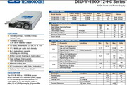 C&D西恩迪D1U-W-1600-12-HA2模块电源说明书