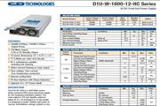 C&D西恩迪D1U-W-1600-12-HC2模块电源说明书