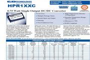 C&D西恩迪HPR122C模块电源说明书