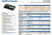 C&D西恩迪CD1327C模块电源说明书