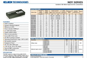 C&D西恩迪NDY系列模块电源产品说明书