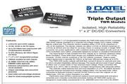 C&D西恩迪TWR系列模块电源产品说明书
