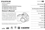 富士FinePix S1900 series数码相机 使用说明书