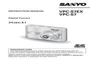 三洋 VPC-S7EX数码相机 使用说明书