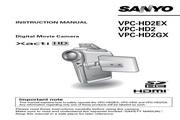 三洋 VPC-HD2GX数码相机 使用说明书