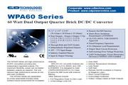 C&D西恩迪WPA60系列模块电源产品说明书