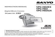 三洋 VPC-HD2数码相机 使用说明书