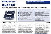 C&D西恩迪SLC100系列模块电源产品说明书