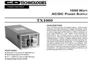 C&D西恩迪TX1000系列模块电源产品说明书