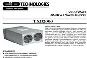 C&D西恩迪TXD2000系列模块电源产品说明书