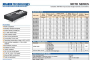 C&D西恩迪NDTD系列模块电源产品说明书