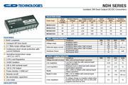 C&D西恩迪NDH系列模块电源产品说明书