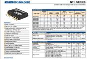 C&D西恩迪NTH系列模块电源产品说明书