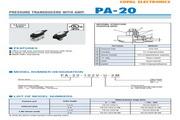 COPAL PA-20压力传感器 使用说明书