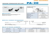 COPAL PA-100压力传感器 英文手册