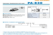 COPAL PA-830 压力传感器 手册