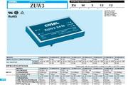 COSEL科索ZUW1R6模块电源产品说明书