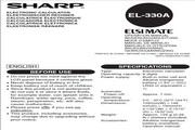 夏普 EL-330A型计数机 英文说明书