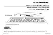 松下 AV-HS450多功能切换台 英文操作手冊