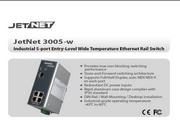 芯惠通KorenixJetNet3005-w工业级宽温以太网交换机产品说明书