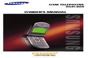 三星 SGH-800手机 用户手册
