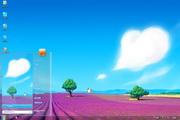 紫色花海win7主题 1.0