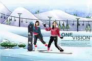 psd女性滑雪