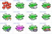果冻壮植物叶图标