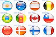 水晶球亮彩国旗图标