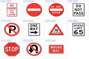 交通标志图标下载