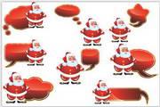 矢量圣诞老人标签
