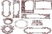 欧式花纹边框矢量设计