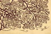 手绘复古花纹矢量设计