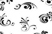 单色装饰花纹矢量设计
