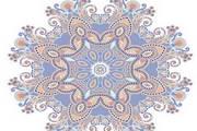 复古花纹点缀装饰卡矢量