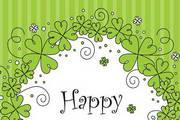 绿色花纹卡片矢量素材