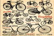 复古自行车矢量设计素材