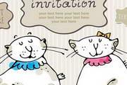 可爱卡通猫咪矢量素材