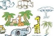 卡通手绘动物矢量素材