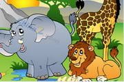 可爱卡通动物园...