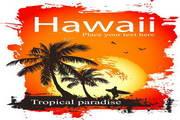 夏威夷风景矢量素材