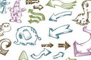手绘卡通图标矢量素材