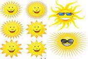 矢量图标-可爱的太阳表情
