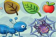 卡通昆虫矢量素材图