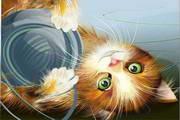 矢量可爱小猫素材