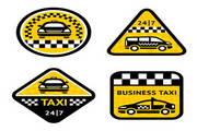 交通指示图标矢量设计素材